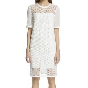 rag & bone Luna Illusion Mesh Shift Dress White M
